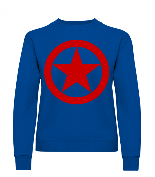 Star In Circle Logo - Klasická mikina pro dámy sg - Královská modrá - Napřed