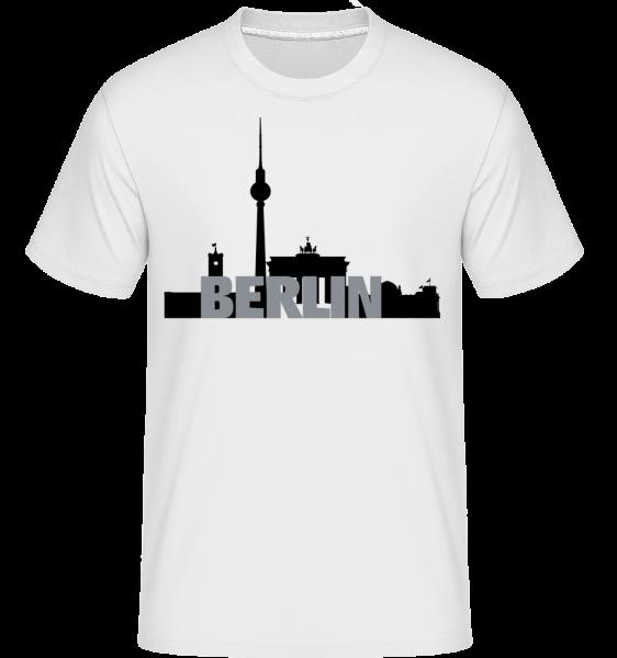 Berlín, Německo - Shirtinator tričko pro pány - Bílá - Napřed