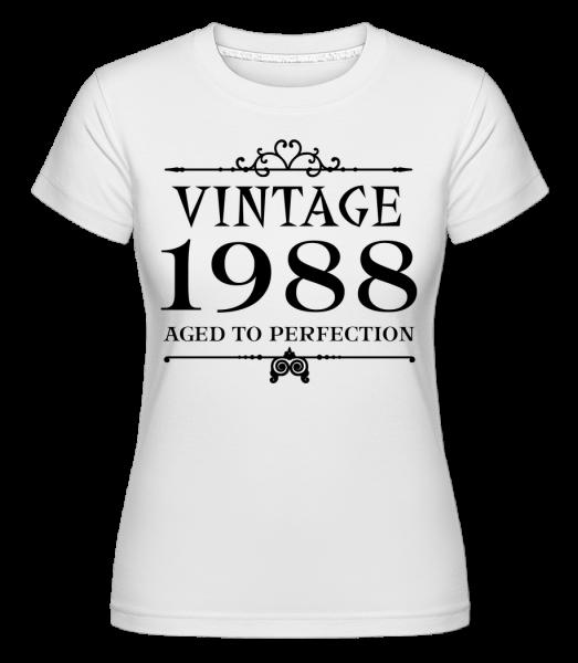 Klasická 1988 Dokonalost -  Shirtinator tričko pro dámy - Bílá - Napřed