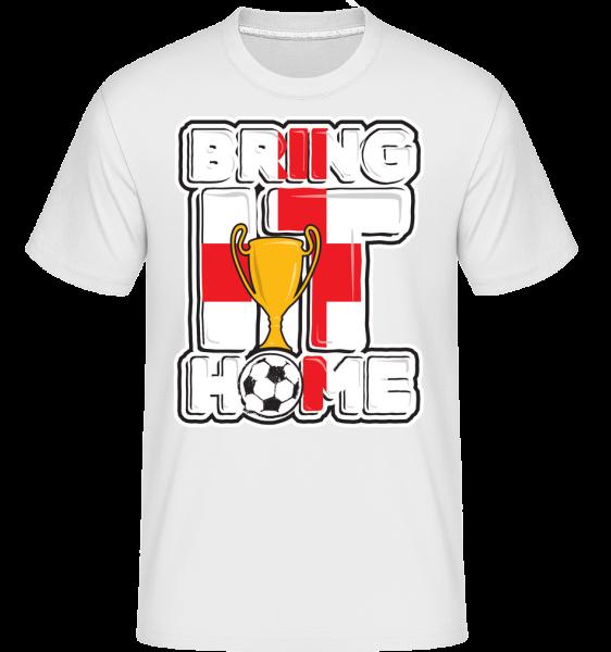 Fotbalová Anglie přivést ji domů -  Shirtinator tričko pro pány - Bílá - Napřed