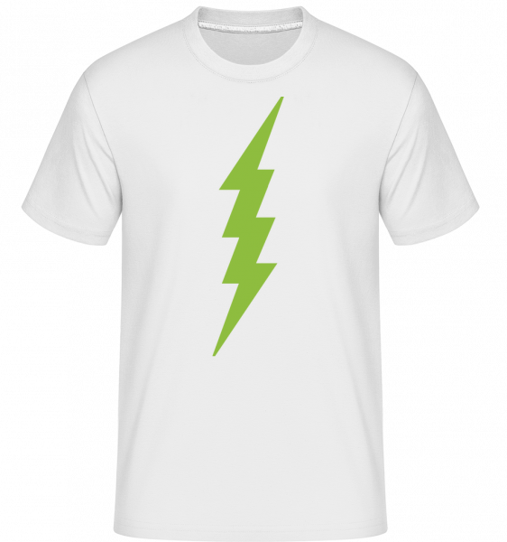 Flash Icon Green -  Shirtinator tričko pro pány - Bílá - Napřed