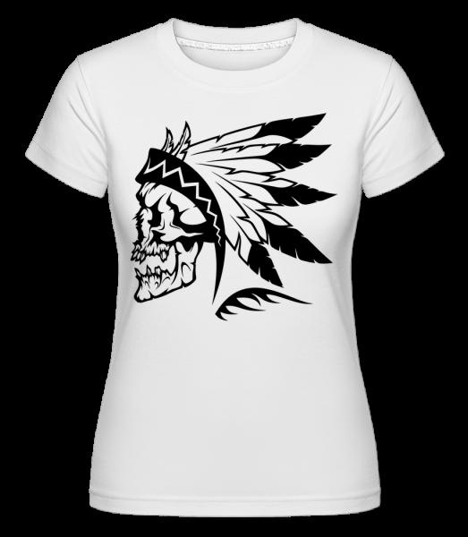 Wild West Skull - Shirtinator tričko pro dámy - Bílá - Napřed