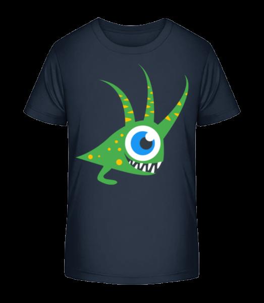 Funny monster - Detské Premium Bio tričko - Namořnická modrá - Napřed