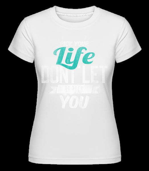 Život - Shirtinator tričko pro dámy - Bílá - Napřed