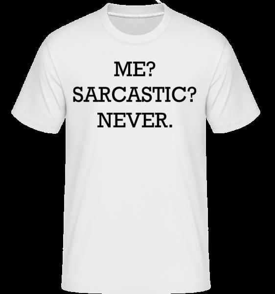 Sarcastic Me - Shirtinator tričko pro pány - Bílá - Napřed
