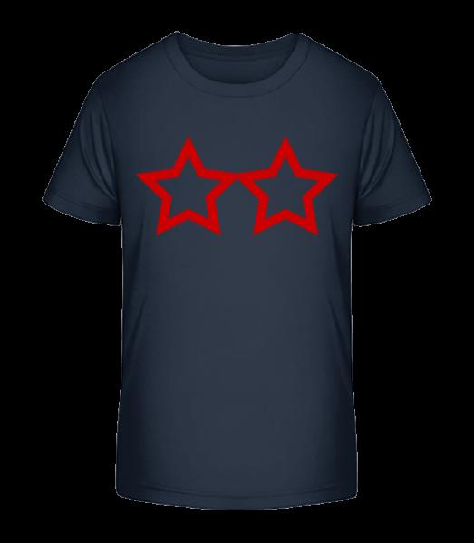 Two Stars - Detské Premium Bio tričko - Namořnická modrá - Napřed