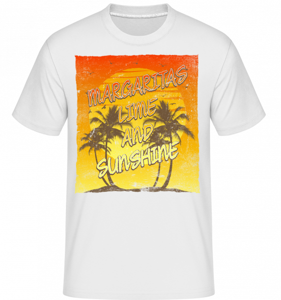 Margaritas a Sunshine - Shirtinator tričko pro pány - Bílá - Napřed