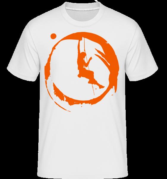 Climbing - Shirtinator tričko pro pány - Bílá - Napřed