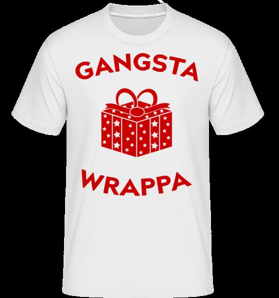 Gangsta Wrappa -  Shirtinator tričko pro pány - Bílá - Napřed