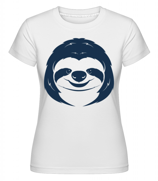 Cute Sloth Face - Shirtinator tričko pro dámy - Bílá - Napřed
