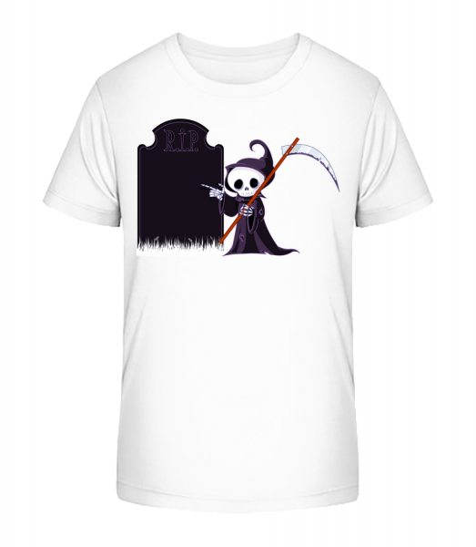 Smrt Rest In Peace - Detské Premium Bio tričko - Bílá - Napřed
