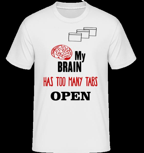 Můj mozek má příliš mnoho otevřených záložek -  Shirtinator tričko pro pány - Bílá - Napřed