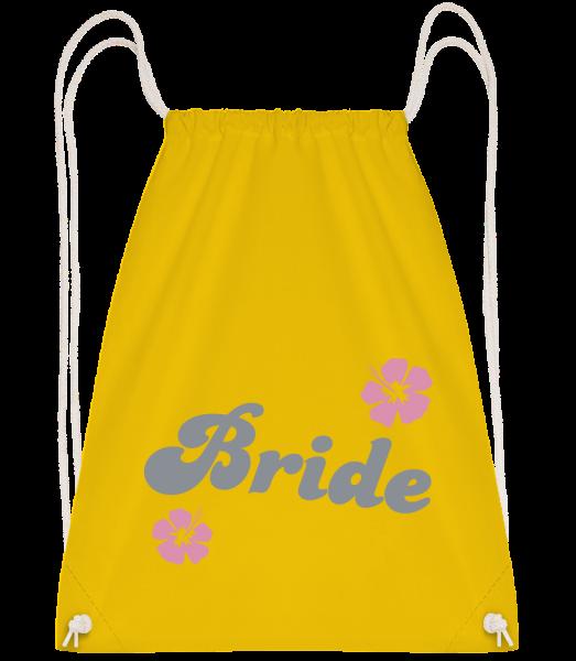Bride - Drawstring batoh se šňůrkami - Žlutá - Napřed