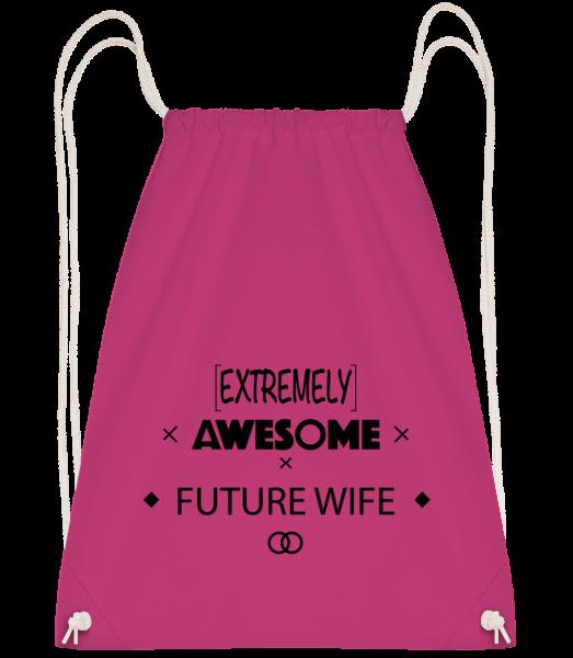 Awesome Future Wife - Drawstring batoh se šňůrkami - Magenta - Napřed