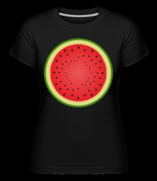 Watermelon -  Shirtinator tričko pro dámy - Černá - Napřed