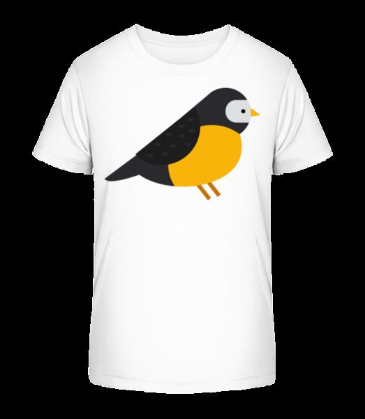 Titmouse Image - Detské Premium Bio tričko - Bílá - Napřed