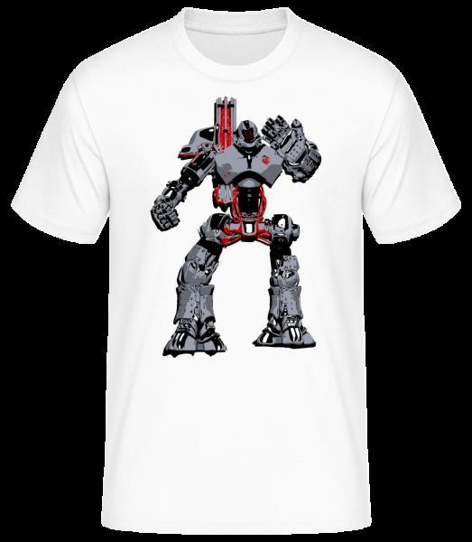 Fighting Robots - Pánské basic tričko - Bílá - Napřed