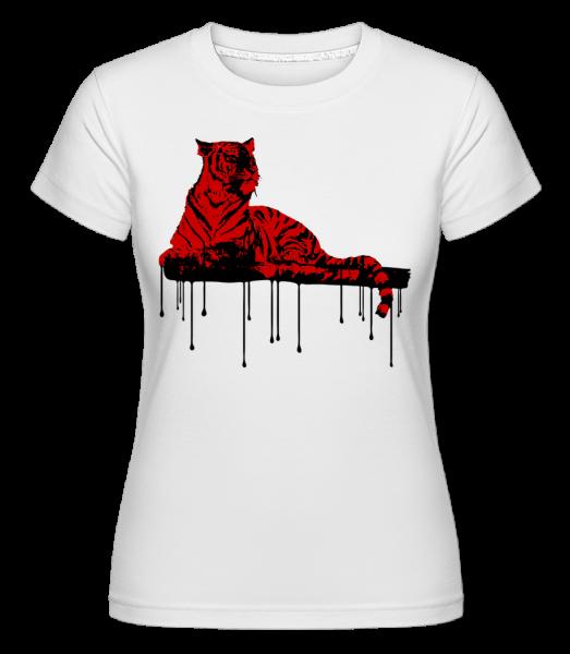 Red Tiger -  Shirtinator tričko pro dámy - Bílá - Napřed