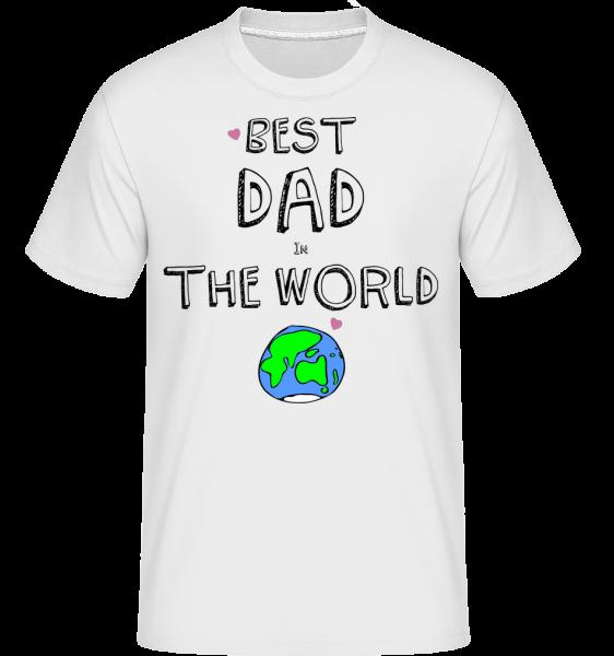 Best Dad In The World -  Shirtinator tričko pro pány - Bílá - Napřed