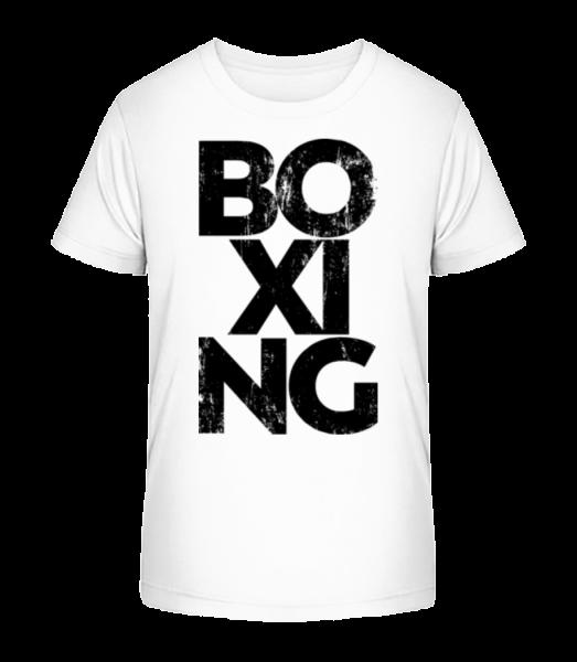 Box - Detské Premium Bio tričko - Bílá - Napřed