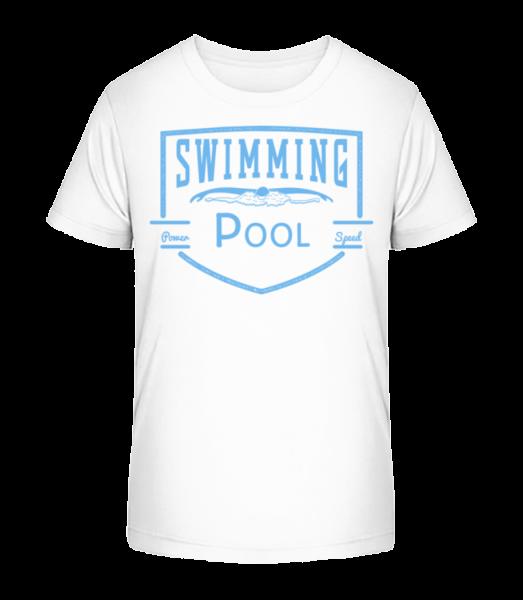 Bazén Sign - Detské Premium Bio tričko - Bílá - Napřed