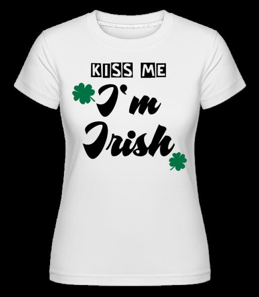 Polib mě, jsem Ir - Shirtinator tričko pro dámy - Bílá - Napřed
