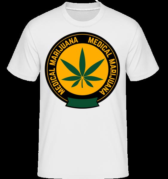 Medical Marijuana -  Shirtinator tričko pro pány - Bílá - Napřed