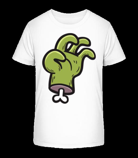 Zombie je Hand - Detské Premium Bio tričko - Bílá - Napřed
