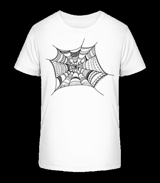 Pavoučí síť - Detské Premium Bio tričko - Bílá - Napřed