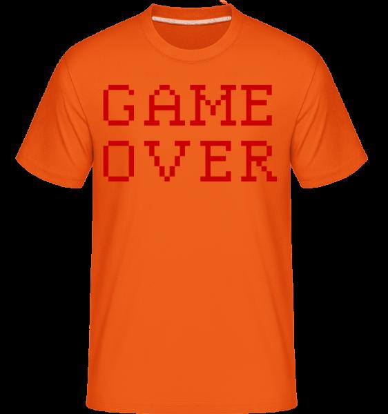 Game Over Pixel -  Shirtinator tričko pro pány - Oranžová - Napřed