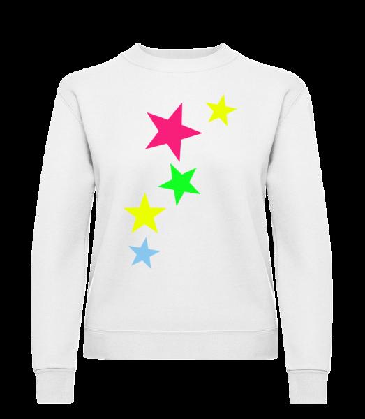 Colorful Stars - Klasická mikina pro dámy sg - Bílá - Napřed