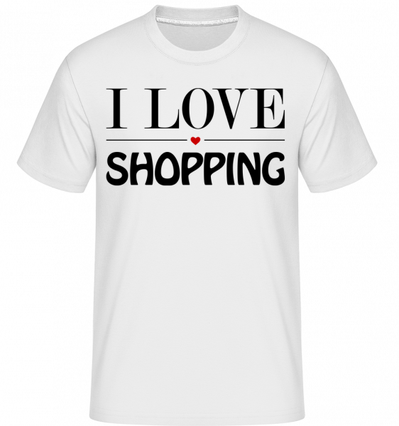 Miluji nakupování -  Shirtinator tričko pro pány - Bílá - Napřed