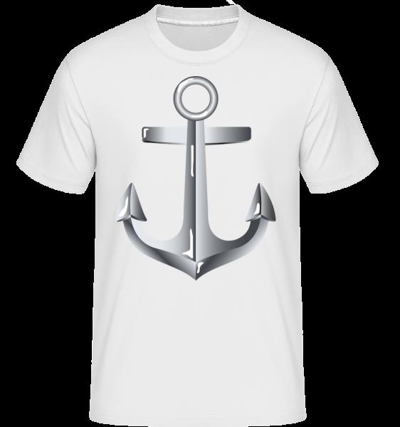 Anchor Comic Silver - Shirtinator tričko pro pány - Bílá - Napřed