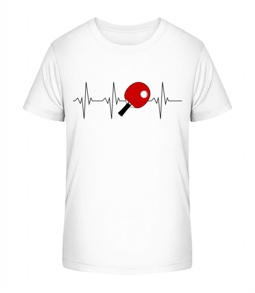 Stolní tenis Heartbeat - Detské Premium Bio tričko - Bílá - Napřed