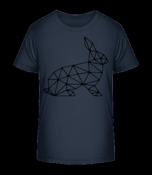 Polygon Rabbit - Detské Premium Bio tričko - Namořnická modrá - Napřed