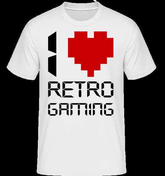 I Love Retro Gaming - Shirtinator tričko pro pány - Bílá - Napřed