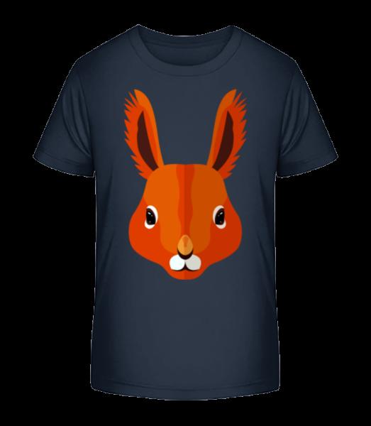 veverka Comic - Detské Premium Bio tričko - Namořnická modrá - Napřed