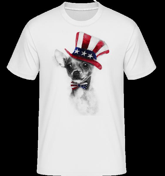 USA Chihuahua -  Shirtinator tričko pro pány - Bílá - Napřed