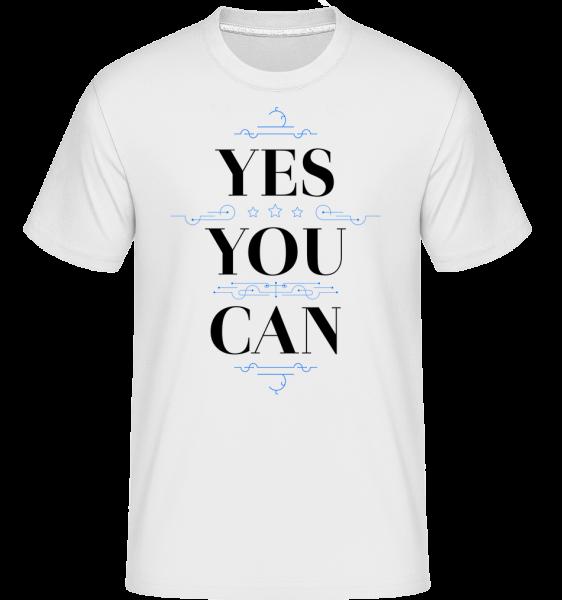 Yes, You Can - Shirtinator tričko pro pány - Bílá - Napřed