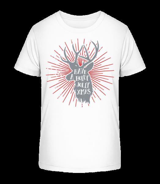 Si veselé Vánoce - Detské Premium Bio tričko - Bílá - Napřed
