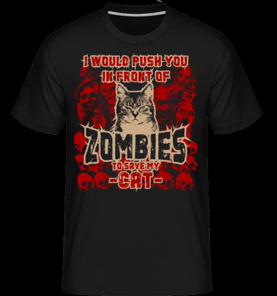 Save My Cat -  Shirtinator tričko pro pány - Černá - Napřed