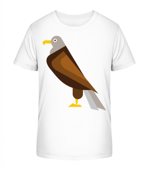 Eagle Comic - Detské Premium Bio tričko - Bílá - Napřed