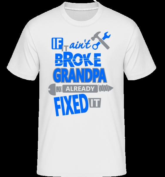 Dědeček opravil - Shirtinator tričko pro pány - Bílá - Napřed