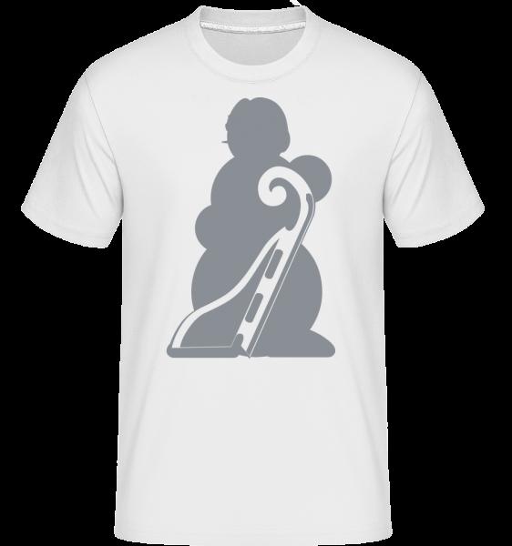 Sledge Snowman Gray -  Shirtinator tričko pro pány - Bílá - Napřed