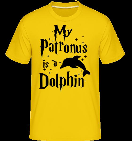 My Patronus Is A Dolphin -  Shirtinator tričko pro pány - Zlatožlutá - Napřed