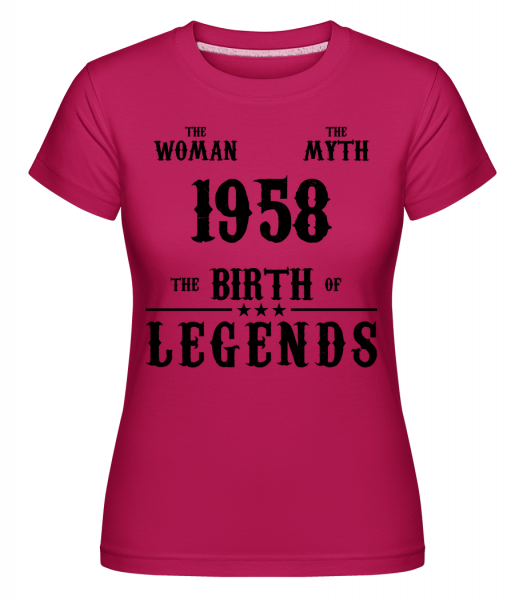 Mýtus Žena 1958 - Shirtinator tričko pro dámy - Magenta - Napřed