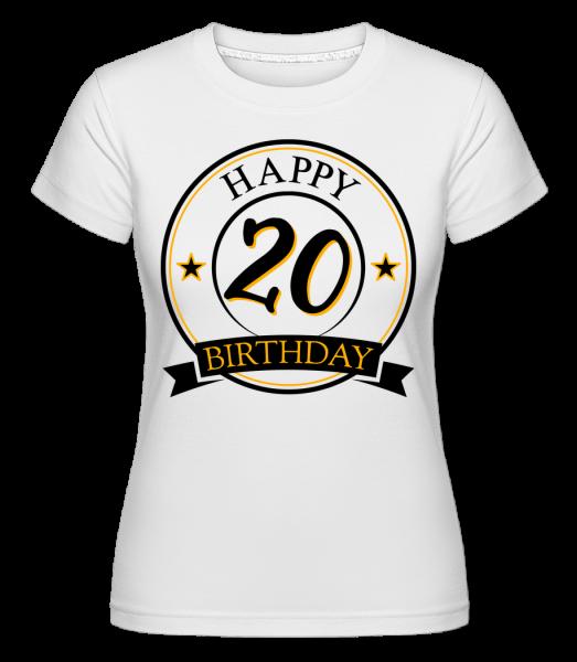 Happy Birthday 20 - Shirtinator tričko pro dámy - Bílá - Napřed