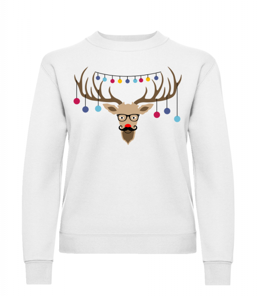 Christmas Reindeer - Klasická mikina pro dámy sg - Bílá - Napřed