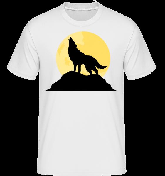 Gothic Wolf Sunset -  Shirtinator tričko pro pány - Bílá - Napřed