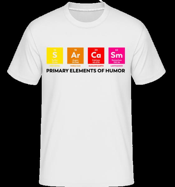 Primary Elements Of Humor - Shirtinator tričko pro pány - Bílá - Napřed